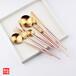 銀貂里昂香檳金不銹鋼刀叉勺筷子創意禮品不銹鋼餐具