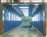伸缩移动式喷漆房整体为钢制框架结构
