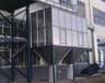 伸缩移动式喷漆房将工件移入工作区
