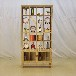 实木多宝阁新中式储物柜老榆木玄关隔断博古架展示柜茶叶柜实木