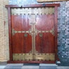 老木门双开门老榆木寺庙门中式松木围墙双开大门实木进户门