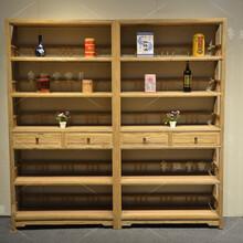 老榆木酒架葡萄酒架红酒架子实木中式仿古红酒展示架木质格子酒柜