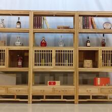 多层普洱茶柜茶饼柜老榆木酒架葡萄酒架红酒架子实木中式仿古红酒展示架