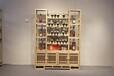 老榆木葡萄酒架红酒架子实木中式仿古红酒展示架木质格子酒柜个性定制
