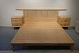 免漆白蜡木罗汉床实木新中式禅意家具简约风格型,榆木双人床