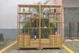 新中式實木書柜博古架展示架飾品擺件裝飾柜組合3D模型