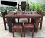 老船木茶桌椅組合原木龍骨茶臺新中式功夫茶幾流水裝飾茶臺
