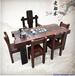 老船木茶桌椅組合特價船木家具客廳陽臺休閑大氣龍骨泡茶桌椅功夫茶幾茶臺