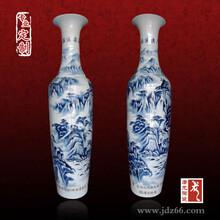 陶瓷手绘礼品大花瓶定做,落地花瓶价格
