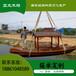 亞太木船定制單亭觀光旅游船觀光手劃船景區小木船電動船