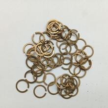 射频同轴连接器挡圈定制冲压件内外卡簧卡环国德美标铍青铜磷铜