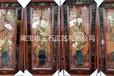 木雕玉雕画挂件中式实木客厅卧室装饰画天然玉石壁挂有框