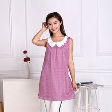 金时尚紫霞69%银纤维衫jss56201银纤维防辐射马甲银纤维孕妇装