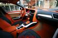 西安奧迪A4L個性化內飾改裝、真皮座椅中控臺頂棚包覆