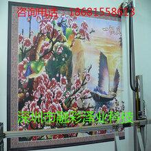 厂家直销浮雕背景墙打印彩绘机瓷砖背景墙uv墙体喷绘机