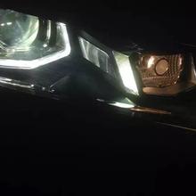 大众帕萨特低配卤素车灯,升级贝雷帽海拉五套装,效果让车友非常满意!超赞!图片