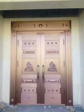 西安精艺铜装饰延安别墅铜门厂家定做西安铜门图片