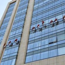 上海外墙玻璃幕墙清洗写字楼玻璃幕墙清洗图片