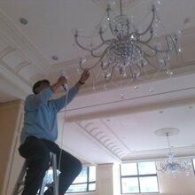 上海灯具清洗、水晶灯清洗、水晶吊灯清洗养护图片