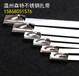 广州地铁304不锈钢扎带供应商4.61100大规格电杆金属捆绑扎带优质中国制造自锁扎带