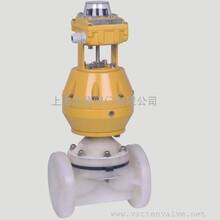 气动塑料衬胶隔膜阀衬氟隔膜阀PP隔膜阀图片