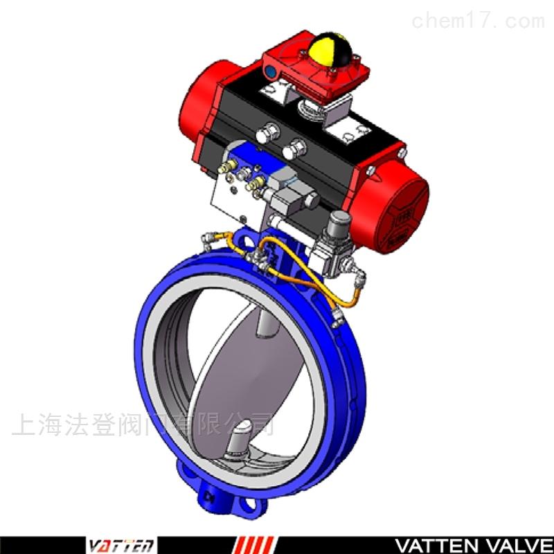 锂电粉专用气动对夹膨胀蝶阀