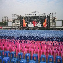 供应广州舞美工程灯光音响舞台LED屏幕设备租赁