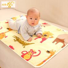 嘟来嘟玩母婴75120CM全棉婴儿3层新生儿防水尿垫宝宝大号隔尿垫图片