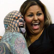 惠州纹身贴吧墨西哥举办纹身博览会,纹身达人图片