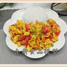定制仿真菜模定做仿真食品模型仿真炒饭模型仿真西红柿蛋炒饭食品模型