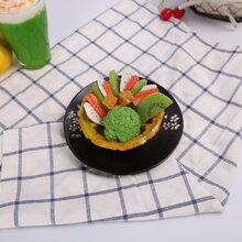 仿真食品日式宇治抹茶模型冰淇淋巧克力熔岩蛋糕样品绿野仙踪道具图片