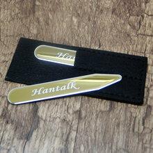 尚尊304不锈钢领角片男士服饰配件领撑Logo定制