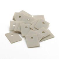 氮化铝陶瓷基片,超高导热陶瓷片,5G电源导热陶瓷片图片