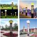 方形雕花镂空景观灯