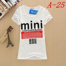 正价白色夏装女士女式T恤短袖T恤批发韩版女装T恤