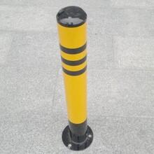 机动车道与小区接口固定防护柱车位活动防护柱