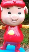猪猪侠玻璃钢雕塑卡通雕塑树脂彩绘玻璃钢雕塑商场游乐园装饰摆件