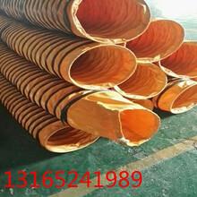 厂家直销pvc夹网布高温伸缩风管铸造废气输送管喷漆房专用风管