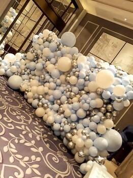 湖南气球背景布置生日气球布置节日气球布置家庭派对布置