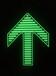 不锈钢箭头夜光标识牌蓄光自发光地铁进出口导向标识