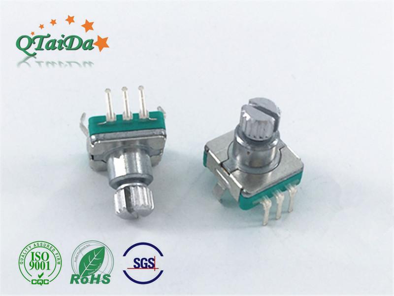 深圳厂家EC11S开关编码器塑胶柄调光调速调音响电位器