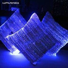 厂家批发定制变色发光抱枕夜光抱枕led抱枕光纤抱枕时尚创意