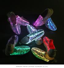 厂家直销休闲鬼步夜光鞋男女透气椰子发光鞋led七彩变色表演鞋