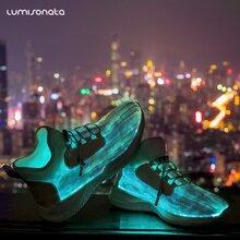 春季新款七彩发光鞋闪光灯情侣款usb充电led灯光夜光鞋男女款板鞋