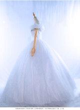 专业定制发光婚纱LED发光服荧光服夜光服礼服舞蹈服