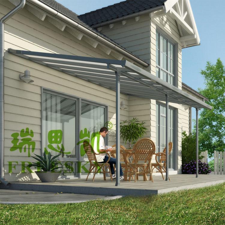 铝合金阳台防雨遮阳棚庭院遮雨蓬露台挡雨棚别墅天台铝合金雨棚图片