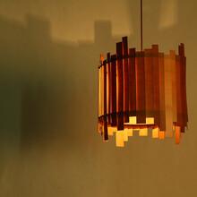 贝司达灯饰餐厅吧台卧室吊灯企业木艺吊灯