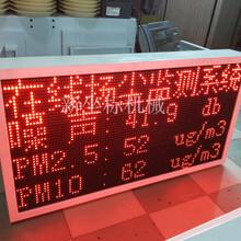 扬尘噪声在线监测系统户外工地pm2.5检测仪空气质量环境粉尘大屏图片