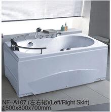 浴缸亚克力独立式浴池欧式浴缸普通浴缸无缝一体对接沐缸图片