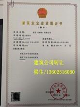 深圳建筑资质公司转让图片